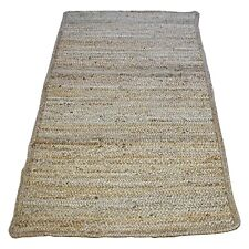 Jute Rugs Matting Natural Hand Braided Hall Kitchen Dining Living Bedroom