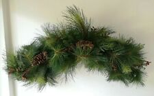 Wall Hanging Over Door Pine Branches And Fir Cones Christmas Winter L96cm W50cm