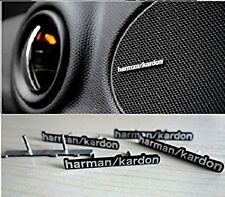 4 x ALUMINIUM HARMAN KARDON PIN Speaker Logo Emblem Badge Sticker MINI M AUDI