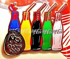 COKE BOTTLES COCA COLA MEDIA 2016 RIO OLYMPIC GAMES PIN BRAZIL SPECIAL ISSUE