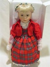"""Vintage 20"""" Porcelain Xmas Holiday Doll New In Original Box Sears Roebuck & Co"""