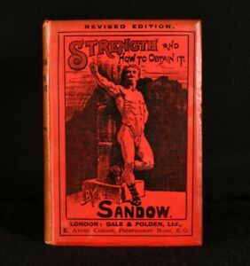 1901 Strength and How to Obtain it Eugen Sandow Illustrated Folding Plate