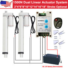 Heavy Duty 2 Dual 1500n Linear Actuator Remote Control 12v Dc Electric Motor Cl