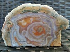 "Mt Lyall thunderegg - 5"" unpolished Geode clear & pink quartz agate carnelian"