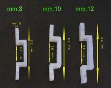 Clip fissaggio x strisce led 220V di mm.8-10-12 in resina elastica in vari lotti