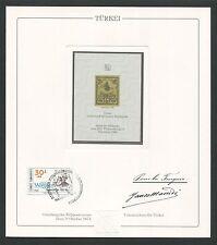 TÜRKEI No. 1 REPRINT UPU CONGRESS 1984 OFFICIAL DELEGATE GIFT !! RARE !! z1799