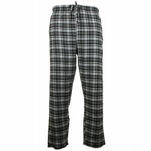 Mens Pajama Pants Lightweight Soft Flannel Plaid Lounge Sleep Bottoms, 2 Pockets