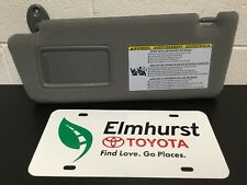 05-11 Toyota Tacoma Drivers LH Sun Visor Gray w/ Integrated Mirror Genuine OEM