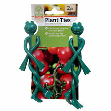 2 Frog Plant Ties Twisting Garden Tie Bendable Reusable Cute Frogs Wire Clips