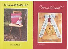 Spruchband'l Spruchbandl 1. eins + 2. Kreuzstich Allerlei Kreuzstich Heptner / M