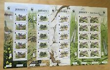 SPECIAL LOT WWF Jersey 1989 507-10 - Rare Fauna - 4 Sheets of 10 - MNH