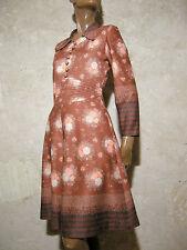 CHIC VINTAGE ROBE 1970 VTG DRESS 1970s KLEID 70er ABITO ANNI 70 RETRO (36)