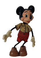 Mickey Mouse Copyright Walt Disney Production EARLY Bendable Toys Vintage