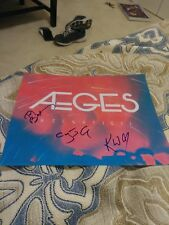 AEGES Rock Band Musicians signed Album Cover 8x10 Photo