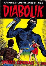 [508] DIABOLIK ed. Astorina 1967 Anno VI n.  25 stato Buono