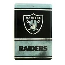 6 x 12 Multicolored Fan Creations Welcome Oakland Raiders Distressed 6 x 12