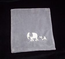 Circo Target Grey Mom Baby Elephant Blanket Square Soft Security Lovey