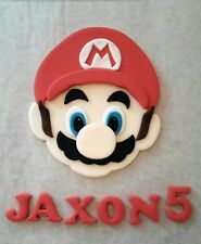 Edible Sugarpaste Super Mario Personalised Birthday Cake Topper Decoration