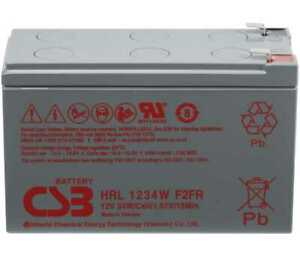 Hitachi CSB HRL1234 12V 9AH AGM APC RBC UPS FIRE RETARDANT F2 8Yrs Design Life