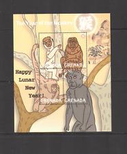 Grenada 2004 YO MONKEY/Greetings/New Year 4v sht n15434