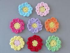 Lot of 32 Handmade Crochet Flower Appliques A86