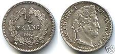 LOUIS-PHILIPPE 1/4 DE FRANC ARGENT 1843 B ROUEN !!!!!!!