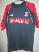 Stoke City Training Britannia Football Shirt Size Small /21953