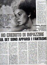 MA104-Clipping-Ritaglio 1975 Florinda Bolkan esperienza vissuta in Turchia
