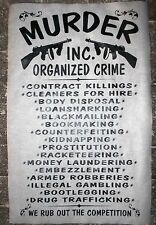"GANGSTER MURDER INC. ORGANIZED CRIME PROHIBITION MOB NOVELTY POSTER 18""x30""(143)"