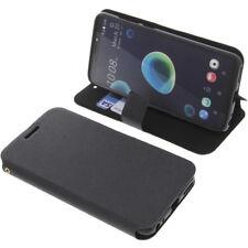 Funda Para HTC Desire 12 Book Style Protectora Telefóno Móvil Estilo Libro Negra