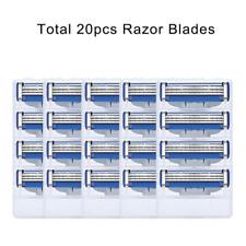 20PCS Shaving Razor Blades For Men 3 Layers Cassettes Fit Gillette Mach 3 Turbo