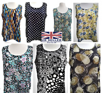 Ladies Womens Plus Sizes Printed Tunic Tops New Special Summer Sleeveless Vests