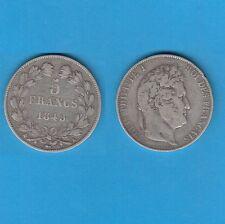 // 5 Francs argent Louis-Philippe Laurée Tranche en relief 1845 Bordeaux