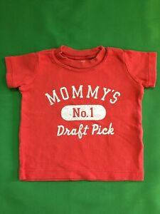 "B437/60 American Football ""Mommy's #1 Draft Pick"" T-shirt 3 months"