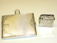 SOLIS LIGHTER W. 935 SILVER CASE & ALPACCA CIGARETTE CASE (GEORG&HEINRICH BÖHME)