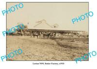 OLD 8x6 PHOTO LEETON NSW BUTTER FACTORY BUILDING c1910