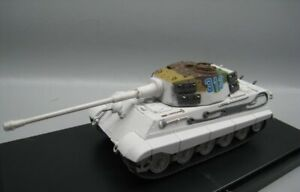 New 1:72 Scale WWII German Army No.313 Tiger King Tank Snow Painting Model