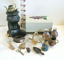 Vintage Miniature Dollhouse Furniture & Accessories,  Larger Size