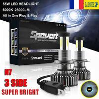 360° 110W  H7 Voiture LED Ampoule Phare Feux Lampe Kit 30000LM 6000K Xénon Blanc