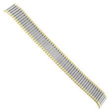 18mm Speidel Stainless Twist-O-Flex Silver Gold Two Tone Watch Band Reg 1560/16
