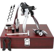 10 piezas Conjunto de herramientas de vino en caja de regalo de madera elegante Completa Accesorios De Botella