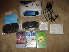 Sony PSP Black PSP-1001K w/ Box 32 MB Memory Card Charger Case Bundle TESTED