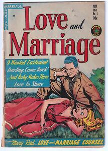 LOVE AND MARRIAGE 11 (1953) GGA, Headlights; RARE, 1 CGC; VG- 3.5