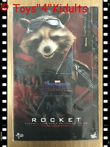Hot Toys MMS 548 Avengers Endgame Rocket 1/6 12 inch Action Figure NEW