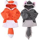 Toddler Baby Kids Boys Girs Animal Cute Cartoon Hoodie Hooded Hoody Coat Jacket