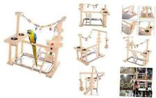 Qbleev Parrot Playstand Bird Play Stand Cockatiel Playground Wood Perch Gym Play