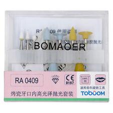 Dental porcelain high polishing kits RA0409 For low speed handpiece 9PCS/KIT