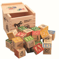 27pcs / set Wooden Alphabet Letters Stacking Blocks Crafts Kids Educational Toy