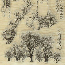 Christmas Tree Silicone Clear Stamp Sheet For XMAS Card Scrapbooking Album DIY