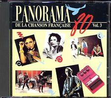 PANORAMA DE LA CHANSON FRANCAISE - ANNEES 80 - VOLUME 3 - CD COMPILATION [2272]